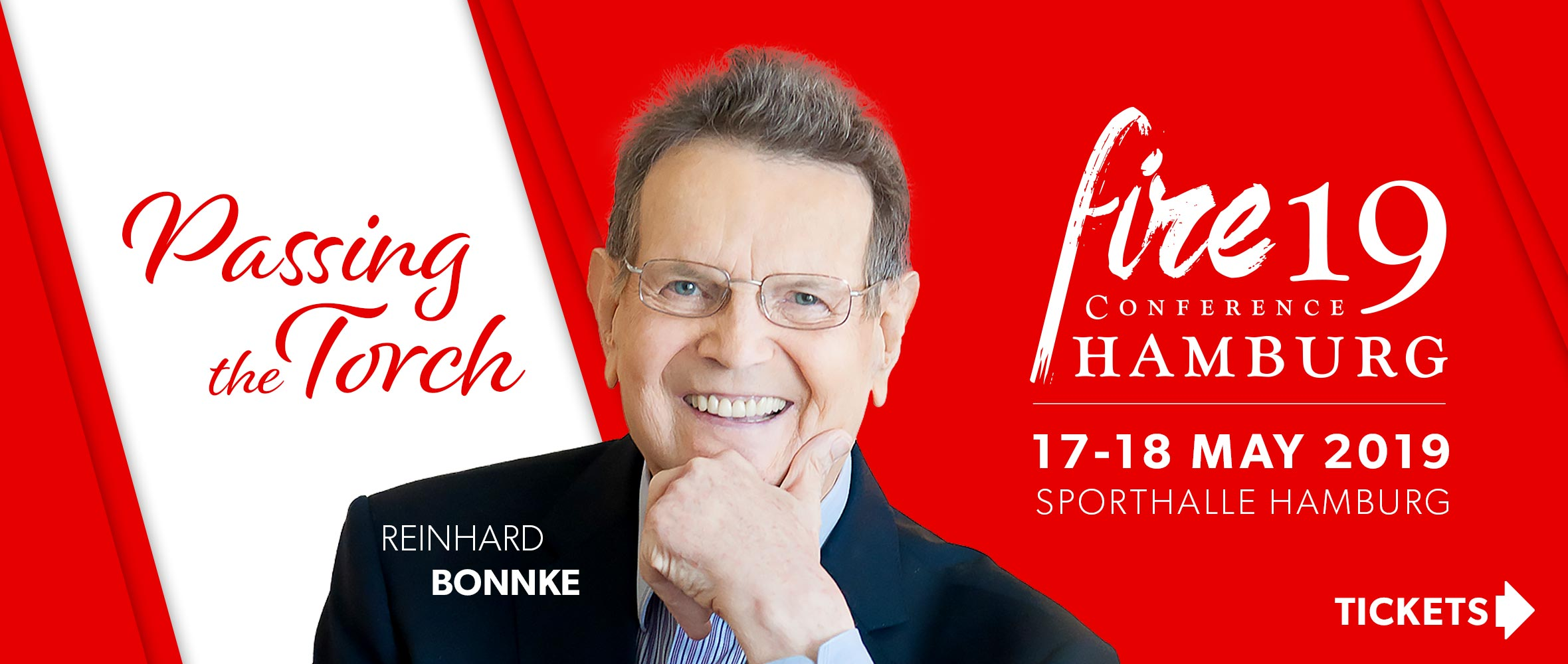 Fire19 Conference Hamburg - with Reinhard Bonnke - Passing the Torch